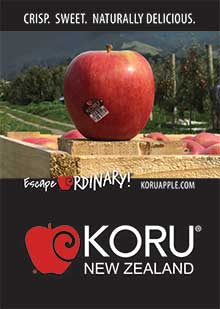 KORU Apples on a crate Poster A3